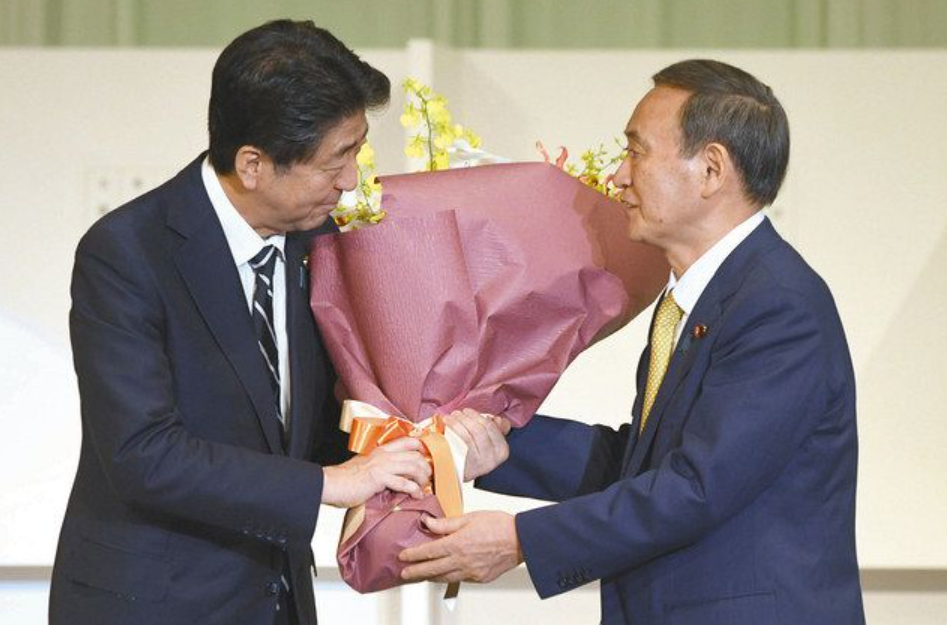 菅総裁 安倍総理